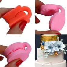 США сток милый 3D цветок розы помадка торт шоколад мастика форма резак силиконовые инструменты