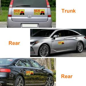 Image 3 - 2019 New Driver Sticker Reflective Magnetic Car Stickers Vehicle Sign Magnetic Bumper Stickers Car Sticker for New Driver