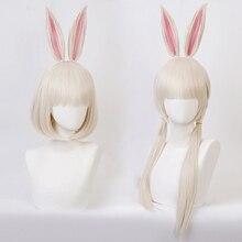 شعر مستعار أنيمي BEASTARS هارو أرنب تأثيري حلي الشعر الاصطناعية تأثيري الباروكات