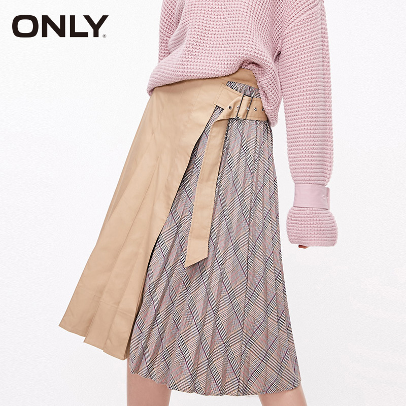 ONLY Winter A-lined Checked Skirt| 119116518