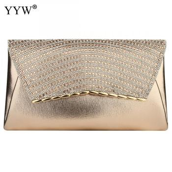 YYW Rhinestone Envelope Bag Women Gold Silver Evening Party Clutch And Purse Female Ladies Handbag Wedding Luxury Crossbody Bags
