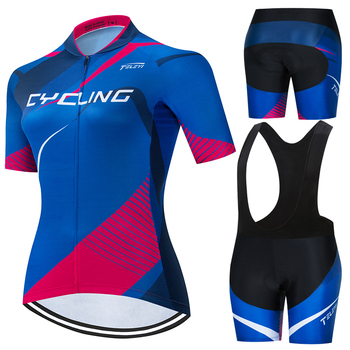 TELEYI Team Women Cycling Jersey Set Brand 2020 Summer Clothing Breathable Pro MTB Bike Ropa Ciclismo