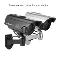 цена на Dummy Camera Solar Battery Powered Flicker Blink LED Fake Indoor Outdoor Surveillance Security Camera Bullet CCTV Camera