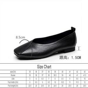 Image 2 - AIYUQI flat shoes  2020 new autumn genuine leather women flat shoes onon slip Plus Size 35 43 Women casual shoes