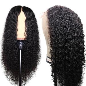 Image 5 - Parrucche di capelli umani ricci Nodi naturali decolorati Parrucche brasiliane Remy 13x6 in pizzo con parrucche pre pizzicate
