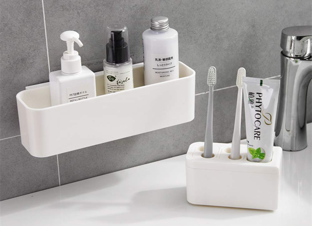 Toothpaste Holder Electric Toothbrush Color Convenient Storage Box Removable Toothpaste Organizer Bathroom Accessories image