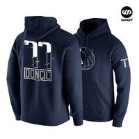 Doncic hoodies Cotton Plus velvet warm Western Team Lillard Basketball Sweatshirt winter Loose size DPOY brand original design