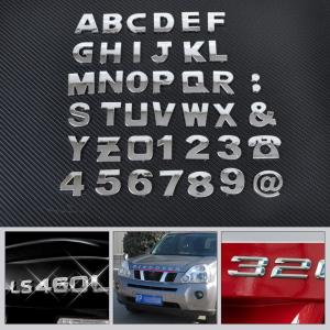Car DIY Letter Alphabet number Stickers Logo for Volkswagen vw 07 EOS 2.0 TF Phaeton 6.0 EOS 2.0 FS Touareg PTouareg Touran