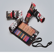 Pencil Case 36/48/72 Holes School Suppliy Art Pen Bag Storage  Pouch Canvas Pens Wrap Roll Makeup Cosmetic Brush Student Station все цены