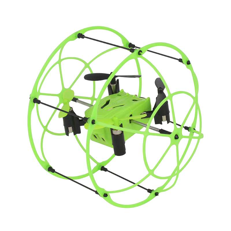 1336 Mini RC Drone Ball Toy Quadcopter  Sky Walker 2.4GHz 4CH Fly Ball 3D Flip Roller Drone RC Helicopter For Christmas Boy Gift