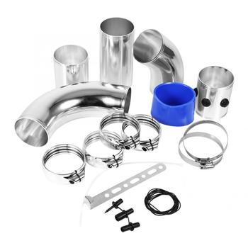 цена на Universal Car Air Filter Fitting Tubes High Flow Induction Intake Kit Aluminium Alloy Set Domestic Delivery
