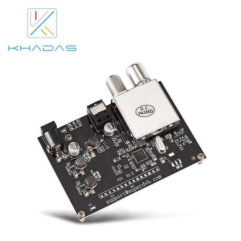 Купить с кэшбэком Khadas VTV Extention DVB-T Development Board, EU Plug