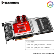 Barrow GPU Water Block for ASUS TUF  RX5700XT,5700  O8G GAMING Full Cover graphics card GPU Cooler BS-AST5700XT-PA,heatsink