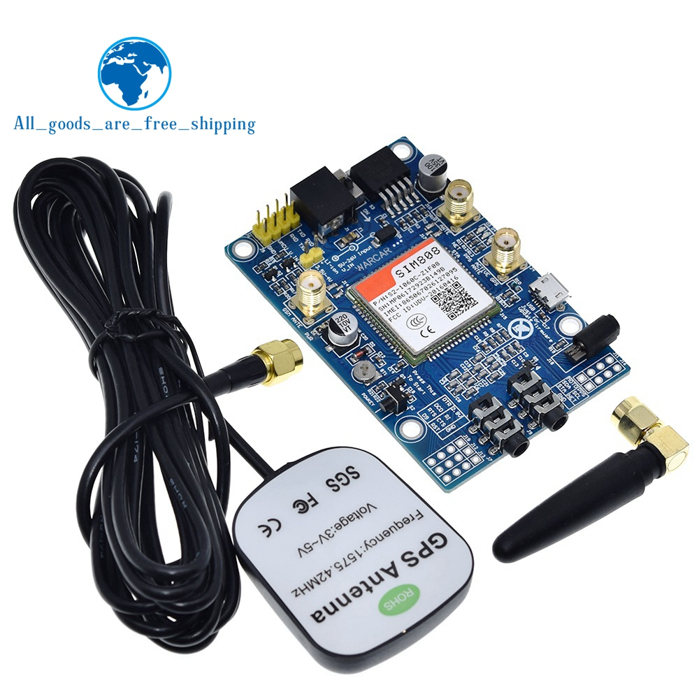 SIM808 instead of SIM908 module GSM GPRS GPS Development Board IPX SMA with GPS Antenna available for Raspberry Pi for arduinoIntegrated Circuits   -