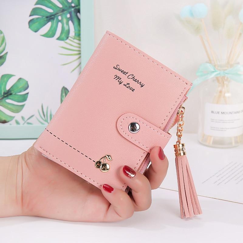 Luxury Designer Women Wallets 2020 New Fashion Tassel Short Wallet Multi-card Position Zipper Buckle Coin Purse Clutch Wholesale