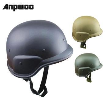 ANPWOO kask hełm ochronny wojny światowej 2 niemieckie wojny hełmów stalowych niewyposażonych w armii na zajęcia na świeżym powietrzu jazda na rowerze z dżungli ochronne tanie i dobre opinie NONE CN (pochodzenie) Khaki Black Army green Unisex Field Jungle Helmet