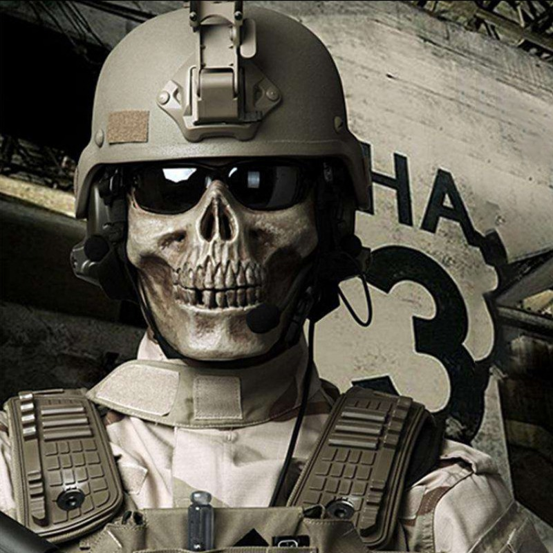 Halloween Skull Mascara Party Scary Masks Airsoft Mask Masquerade Cosplay Horror Maske Half Face Mouth Masque Army Games Maska
