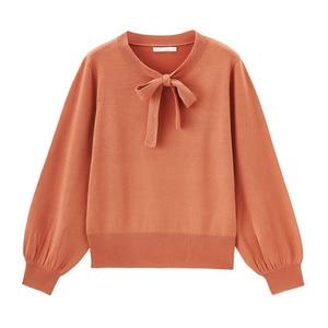 Image 5 - INMAN, весна 2020, Новое поступление, трикотажный пуловер с кружевным воротником и пышными рукавами, свитер