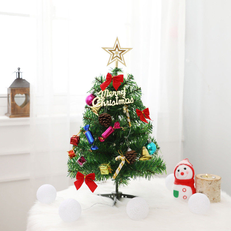 50cm LED Santa Tree Beautiful Village Putz House Festival Wedding Decor Ornament LED Xmas Tree for New Year Office image