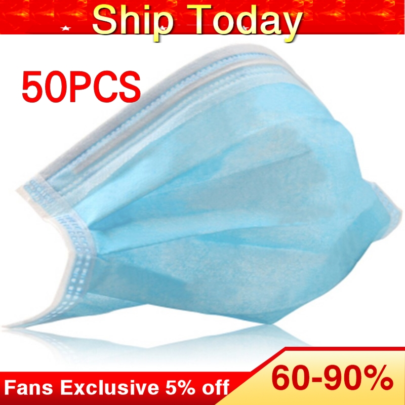 Disposable Mask Unisex Filter Three Layers Breathable Non-Woven Dust Mask Anti-dust Thickened Mouth Face Masks 20/50pcs