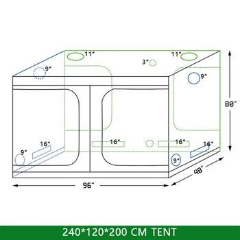 Crescere tenda indoor Idroponica serra 240*120*200 millimetri Camera Box da Coltivazione di Piante, riflettente Mylar Non Tossico Giardino Serre