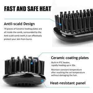 Image 4 - Hair Straightener Beard Straightener Flat Iron Comb For Beard Professional Women Hair Straightening Iron Comb Styling Tools