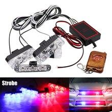 цена на 4X3/LED Strobe Warning Lights Grille Wireless Remote Police light For Car Truck Emergency Light Flashing Firemen Light DC 12V