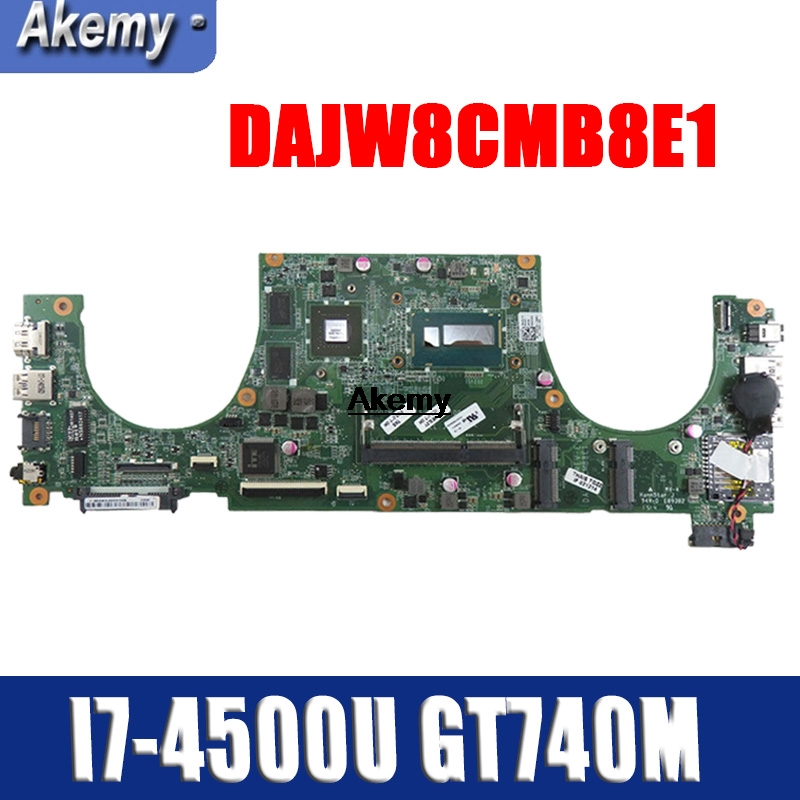 DAJW8CMB8E1 14-5470 Laptop motherboard for Dell Vostro 5470 original mainboard I7-4500U GT740M