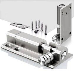 1 zestaw drzwi ze stali nierdzewnej zatrzask blokada bezpieczeństwa śruba drzwi przesuwne zatrzask okienny blokada lufy Bolt Security Bar Hardware