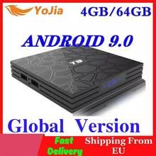 Android 9.0 TV Box T9 RK3318 QuadCore 4GB di RAM 64GB ROM USB 3.0 4K Set Top Box 2.4G/5G Dual WIFI 2G16G TVBOX Smart Media Player