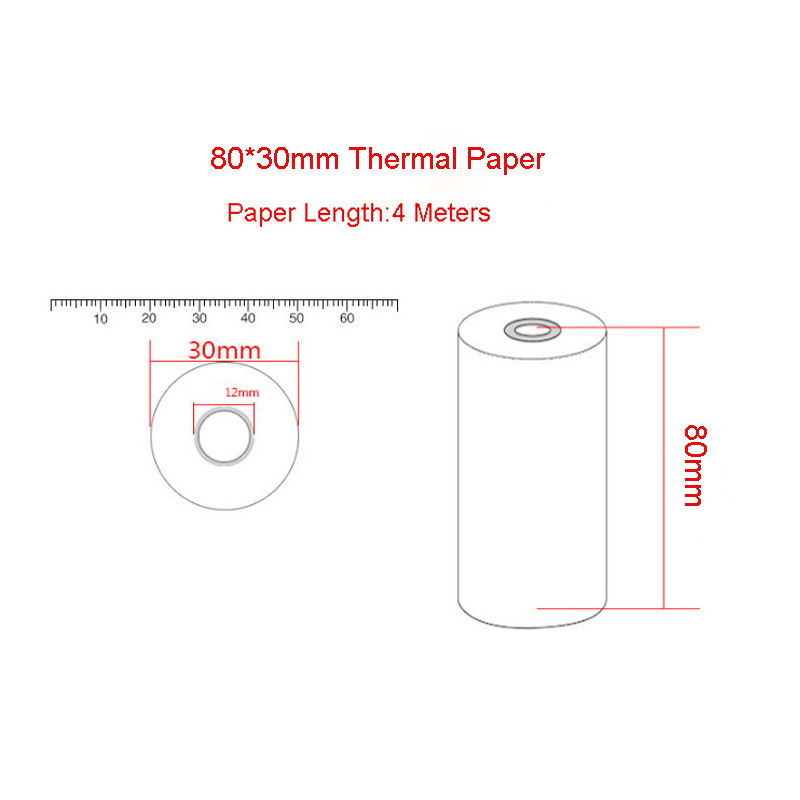 5Pcs 80x30MM Thermal Receipt Paper Roll For Mobile 80MM POS Thermal Printer 87HE