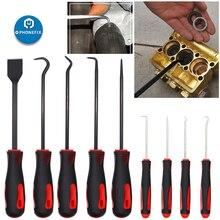 9 Stks/partij Auto Haak Craft Handgereedschap Auto O Ring Oliekeerringen Puller Removal Tool Kit Pick Set Haak schraper Kit Voor Auto Reparatie