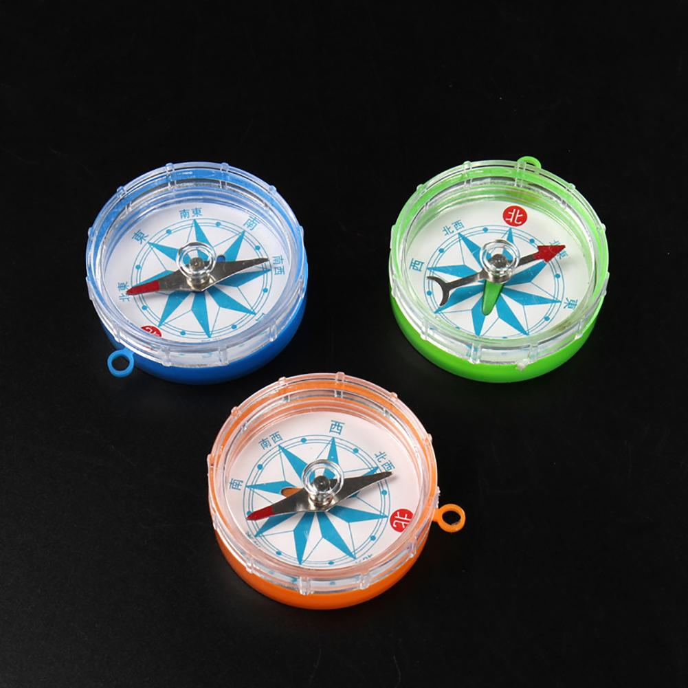 Mini Transparent Compass Laboratory Equipment Teaching Aids Educational Toy Stimulate Children's Curiosity Broaden Horizon