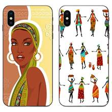 Africa Women Figures For Xiaomi Redmi Note 3 3S 4 4A 4X 5 5A 6 6A 7 7A K20 Plus Pro S2 Y2 Y3 Soft Phone Cases(China)