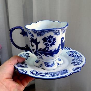 Juego de té y café de porcelana real China, Taza de té...