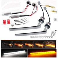 Dual Color White / Amber Yellow LED Sequential Flowing Winker Valve Front Turn Singal DRL For Alphard 30 Vellfire 30 Noah Voxy80