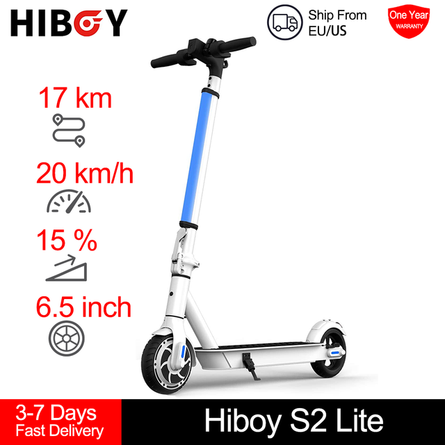 """Hiboy S2 Lite Electric Scooter 6.5"""" Solid Tires 10.6 Miles Long Range 13 MPH Folding Kick-Start Boost Scooters for Teens Adults 1"""