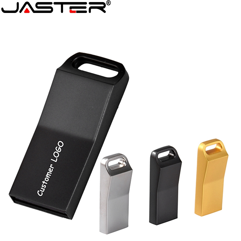JASTER USB 2.0 Metal Pendrive Usb 4GB 16GB 32GB 64GB Pen Drive Memory Stick Flash USB Disk Free Shipping (Over 10pcs Free Logo)