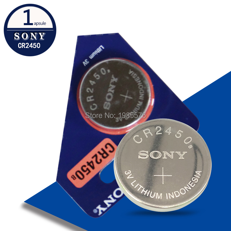 1PCS/LOT New Original Sony CR2450 <font><b>CR</b></font> <font><b>2450</b></font> <font><b>3V</b></font> Lithium Button Cell Battery Coin Batteries For Watches,clocks,hearing aids image