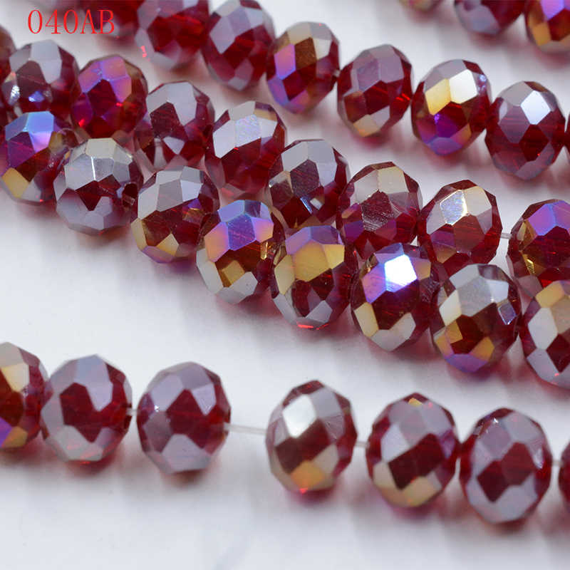 AB Color Crystal Rondelle Beads 4mm Glass Loose 145pcs/lot DIY Natural Stone Spacer 48 Faceted Beading Czech jewelry Materials