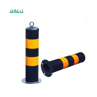 Safety steel road safety bollard flexible steel bollards road traffic bollard Night reflection
