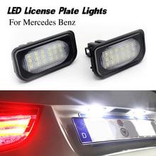 2 шт. для Mercedes benz класса C CLK W203 C209 W209 светодиодный номерного знака светильник автомобиля номерной знак авто светодиодные лампы светильник ...