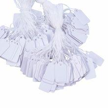 500 sztuk biała biżuteria etykiety z cenami DIY zawieszki z papieru typu Kraft głowy etykiety wesele nieozdobione opakowanie na prezent cena wisząca etykietka 23x13mm