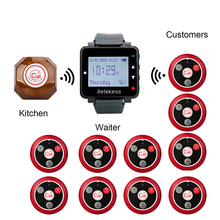 Retekess Wireless Calling  1Waiter Call Pager+T128 Watch Receiver+10 T117 Four key Transmitter Buttons Restaurant Pager Cafe