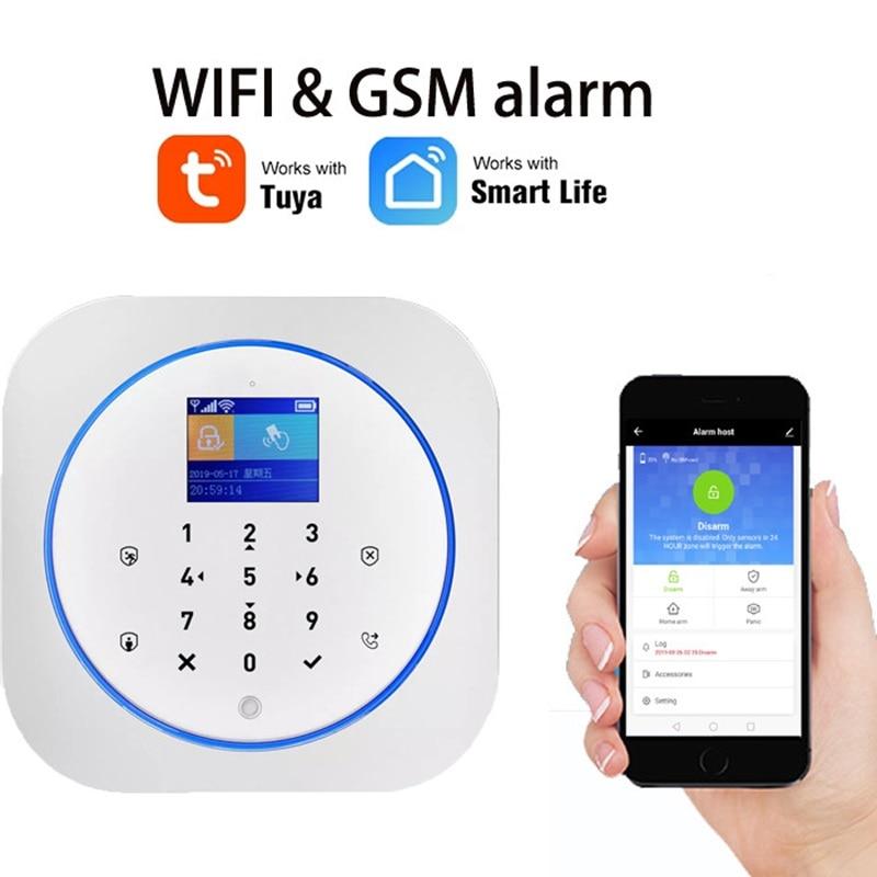 WiFi GSM Wireless Security Alarm mit Tuya APP Alexa Google Smart Home Voice Control TouchScreen RFID IP Cam Touchscreen RFID