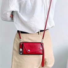 Wallet style Mobile Phone Case Bag IPhone12pro Card Leather Messenger Rope Suitable for IPhone X XR XS Max Phone Case Handbag