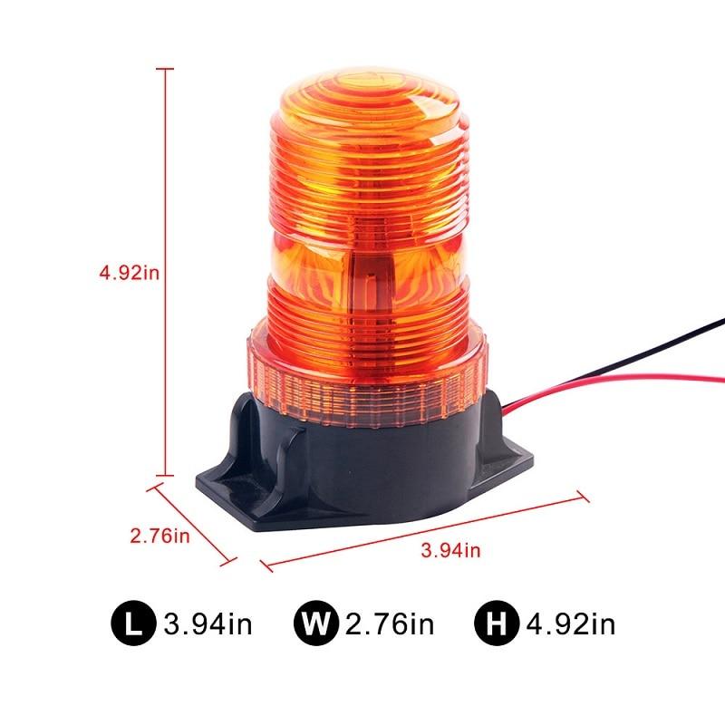 Bogrand 12v Led Traffic Light 6W Rotating Flashing Emergency Lights Indicator Beacon Warning Light Car Safety Rotate Lamp Truck