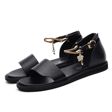 High Quality Women Sandals Summer New Fashion Women Shoes Flat with Shoes Buckle Strap Women Sandals 3-44