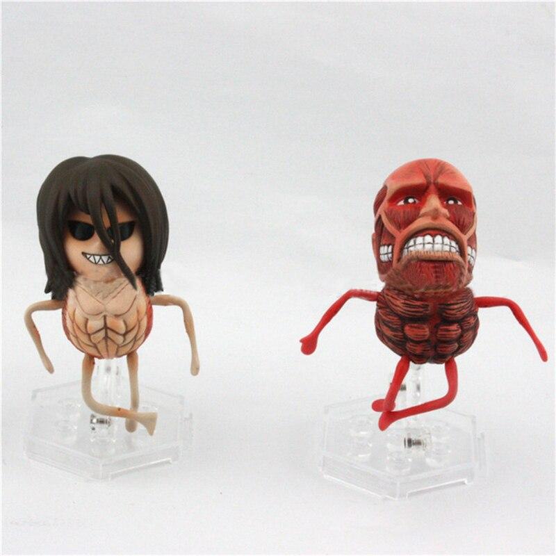Clássico comic anime figura ataque em titan eren jaeger titan vinil figura de ação collectible pvc modelo brinquedo