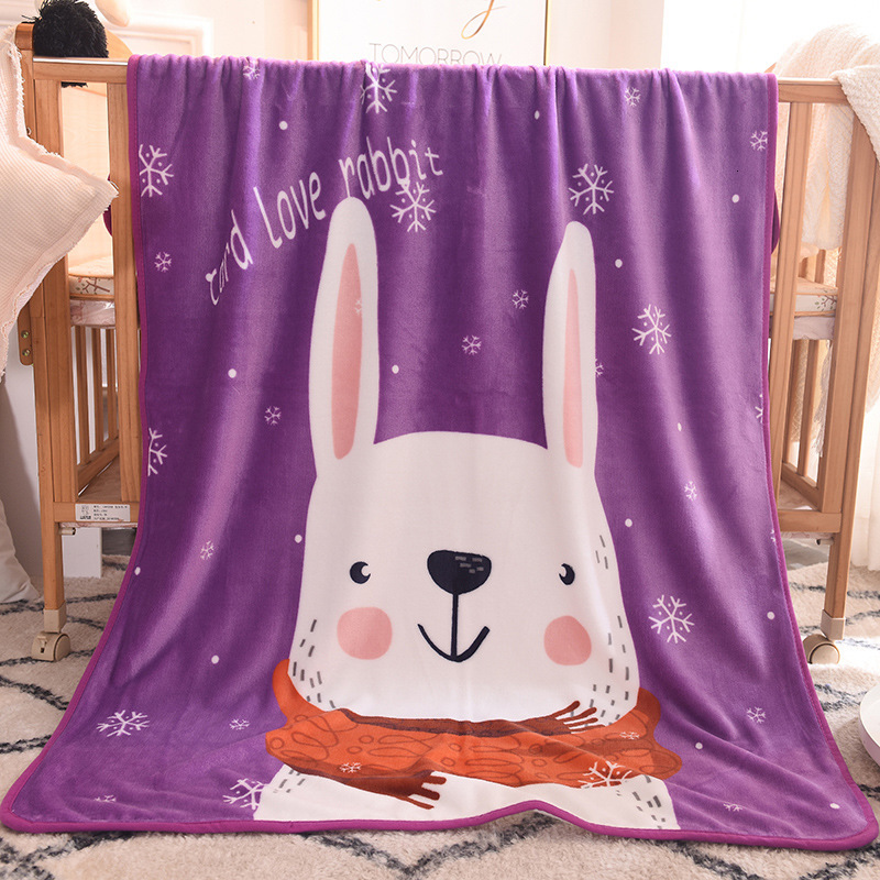 2019 The New Children's Flannel Blanket Animal Shape Baby Blanket Rabbit Cartoon Newborn Photography Poses Baby Room Accessories